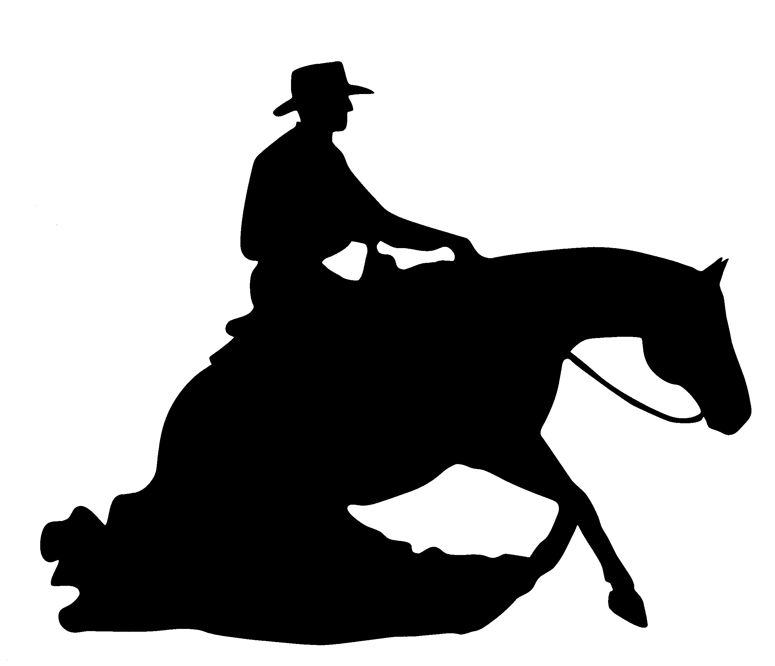 Reining Horse Reflective Decal Equestrisafe Llc